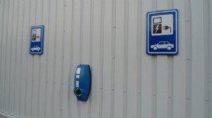 Charging point for electric cars in use
