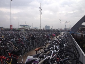 New double tier bicycle racks Optima V7 for Amsterdam Central Station