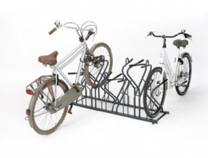 The Jive: bicycle parking systems with front fork support