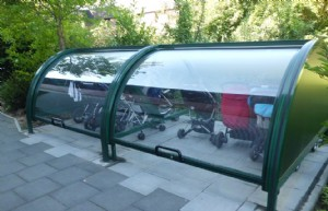 Bike Bin becomes Buggy-shelter