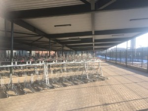 Bicycle parking facilities for railway station Enschede