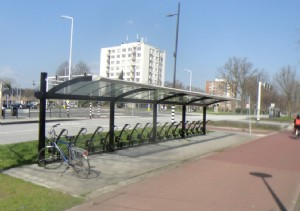 Bicycle shelters at the HOV2 in Eindhoven