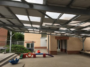 Playground canopy and walkway