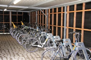 Charging stations for electrical bicycles